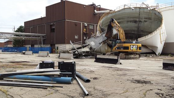 Demolition begins at the Former GM Site in St. Catharines, ON